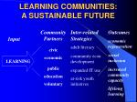 learning communities a sustainable future
