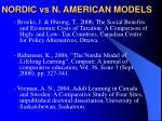 nordic vs n american models