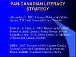 pan canadian literacy strategy