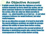 an objective account
