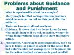 problems about guidance and punishment