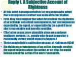 reply 1 a subjective account of rightness