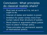 conclusion what principles do classical realists share