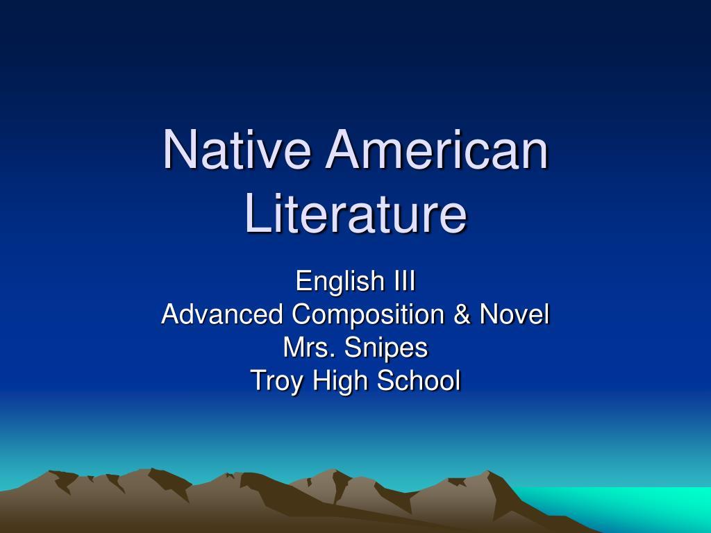 native american literature l.
