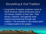 storytelling oral tradition