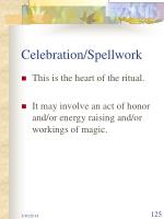 celebration spellwork