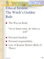 ethical system the witch s golden rule