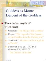 goddess as moon descent of the goddess