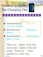 goddess as moon the changing one