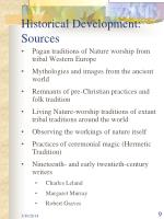 historical development sources