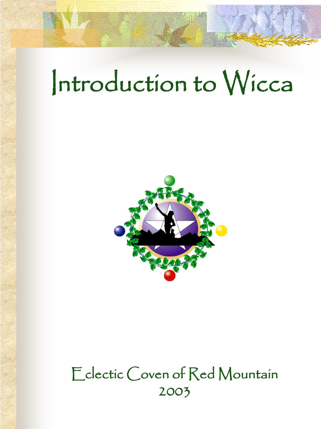 introduction to wicca l.