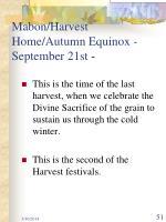 mabon harvest home autumn equinox september 21st