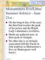 midsummers eve litha summer solstice june 21st