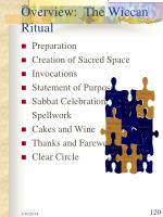 overview the wiccan ritual