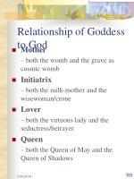 relationship of goddess to god
