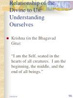relationship of the divine to us understanding ourselves96