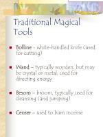 traditional magical tools116