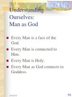 understanding ourselves man as god