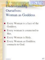understanding ourselves woman as goddess