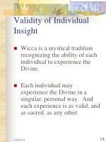 validity of individual insight