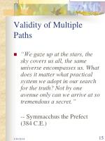 validity of multiple paths