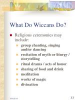 what do wiccans do33