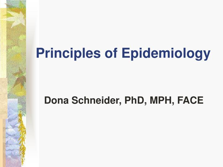 principles of epidemiology n.