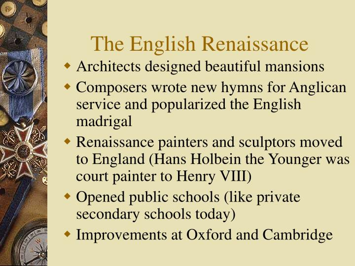 a research on the english renaissance Faculty of english, university of cambridge search faculty of english renaissance dr ajmar's current research centres on the significance of.