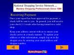receiving payment