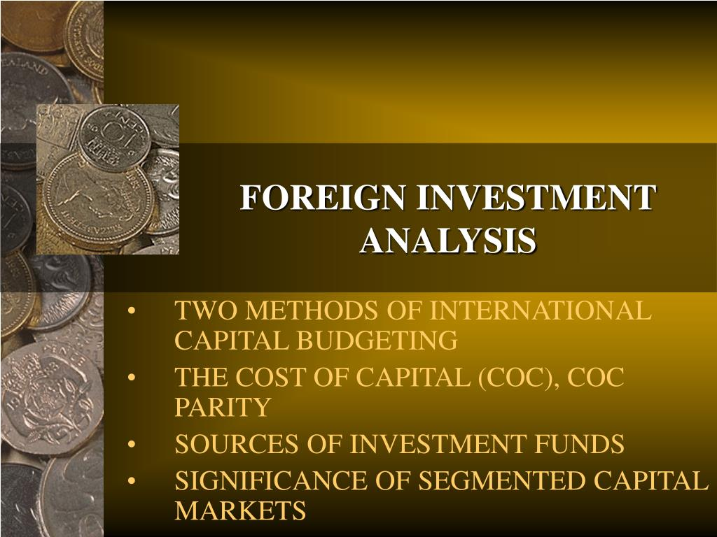 foreign investment analysis l.