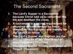 the second sacrament