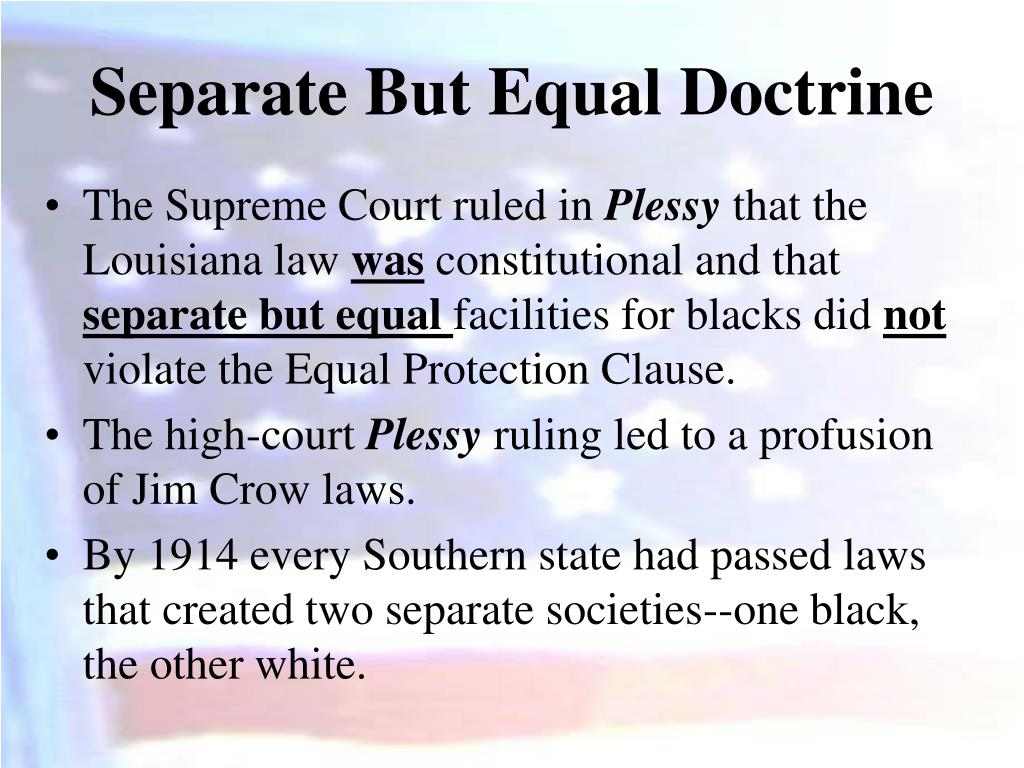 separate but equal Separate but equal is a 1991 american television film depicting the landmark supreme court desegregation case brown v board of education, based.
