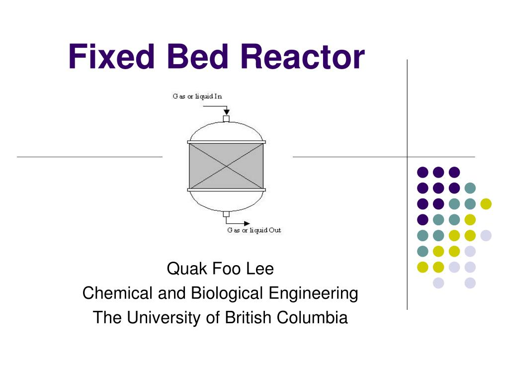 fixed bed reactor l.