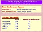 technology application in energy conservation flare gas recovery system