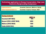technology application in energy conservation step less control in reciprocating compressor