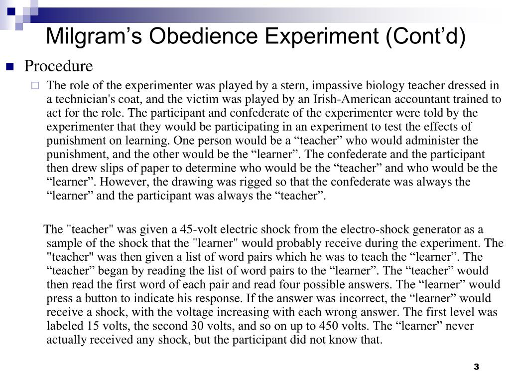 milgrams obedience experiment essay