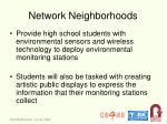 network neighborhoods
