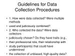 guidelines for data collection procedures
