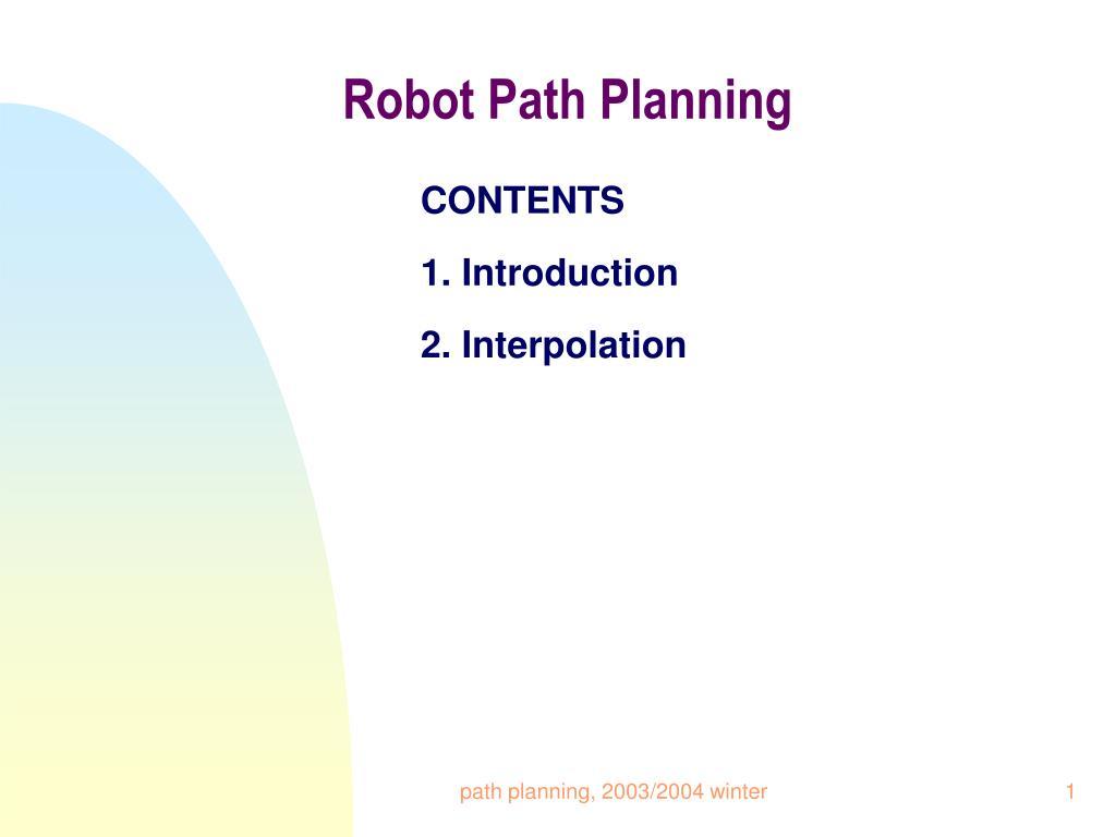 robot path planning l.