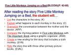 five little monkeys jumping on a bed bloom p 40 mi