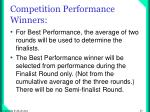 competition performance winners