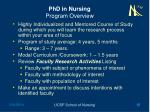 phd in nursing program overview