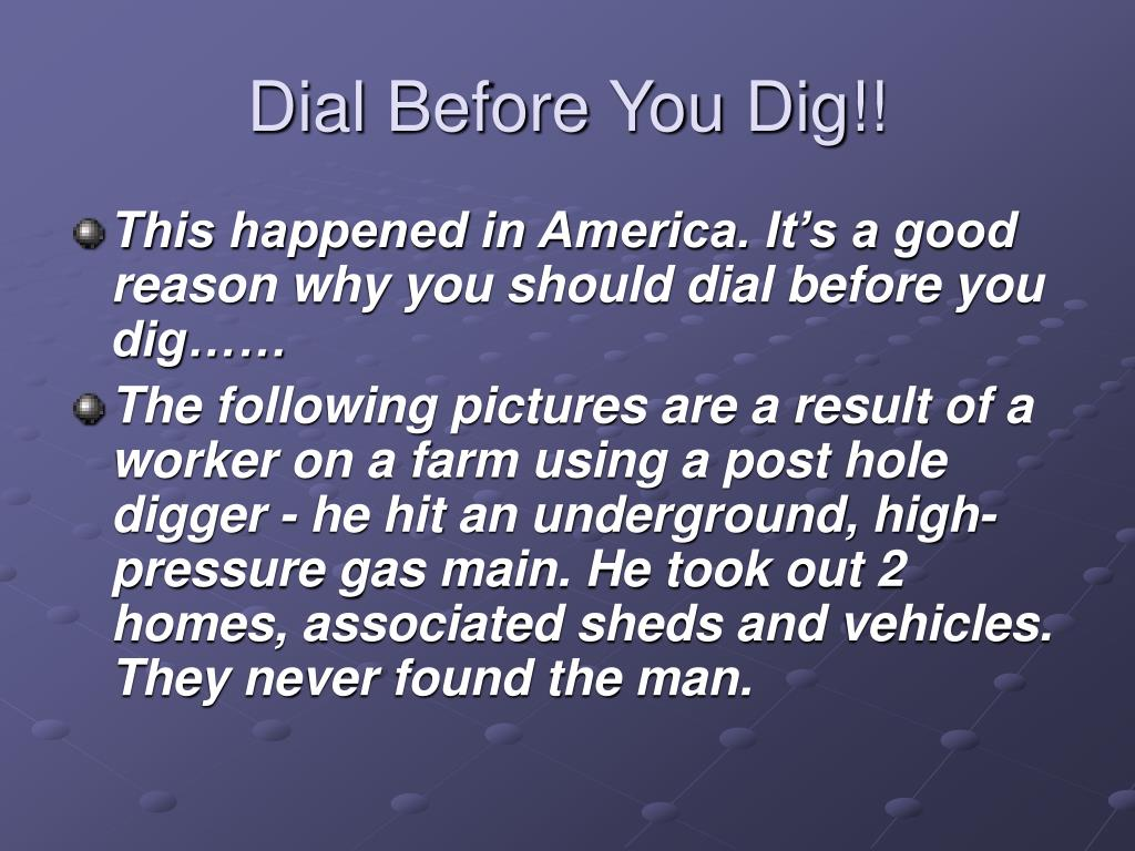 dial before you dig l.
