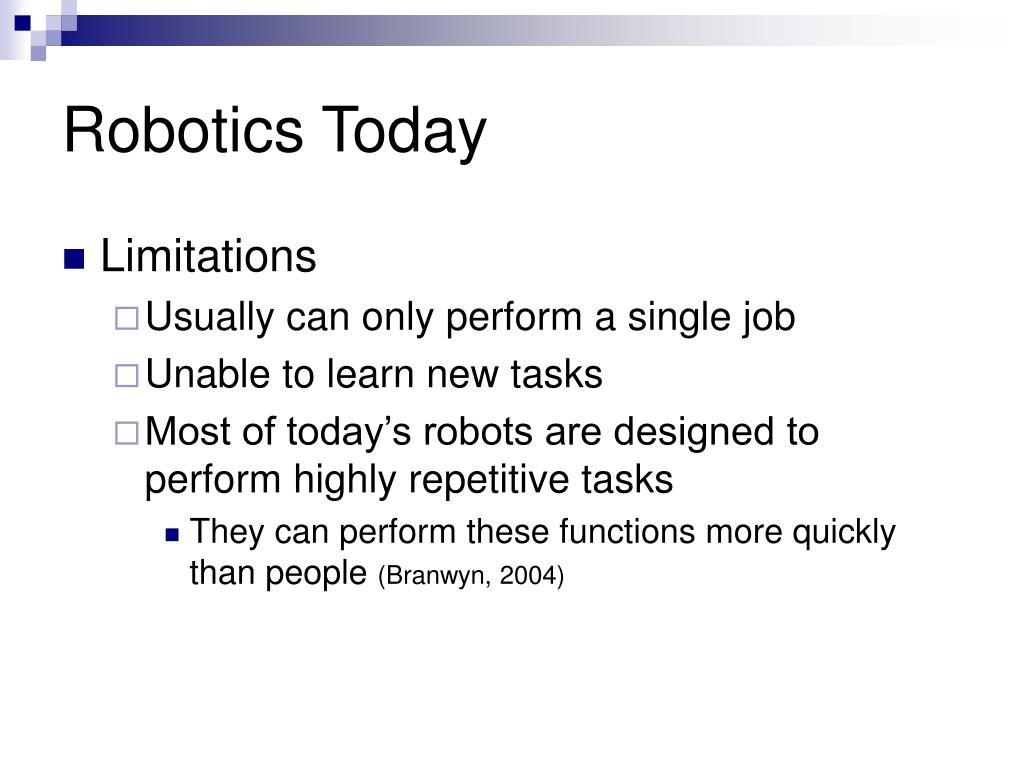 Robotics Today