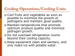 cooling operations cooling units