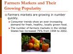 farmers markets and their growing popularity