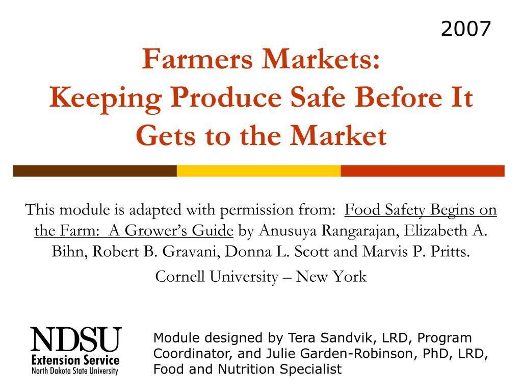 farmers markets keeping produce safe before it gets to the market l.
