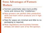 some advantages of farmers markets