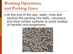 washing operations and packing lines51