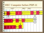 dec computer before pdp 11